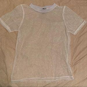 TOPSHOP short sleeve mesh tee shirt